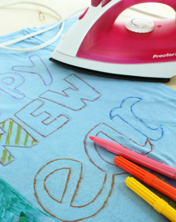 Second Grade Holidays & Seasons Activities: Design a New Year Dress-Up Shirt