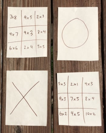 Third Grade Math Activities: Tic-Tac-Toe Multiplication