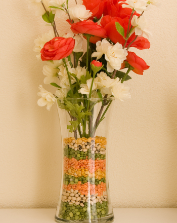 Second Grade Arts & Crafts Activities: Layered Beans Vase