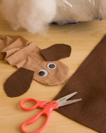 First Grade Arts & crafts Activities: Pantyhose Puppy