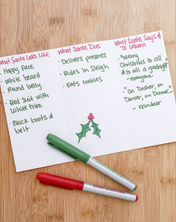 Third Grade Holidays & Seasons Activities: Write Santa Claus-Themed Alliteration