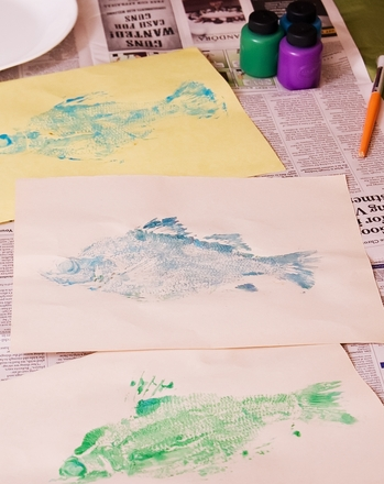 First Grade Arts & Crafts Activities: Create a Fish Art Print!