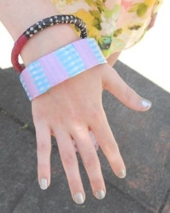 Second Grade Arts & crafts Activities: Washi Tape Bracelets