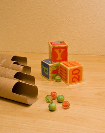 Preschool Arts & Crafts Activities: Make a Marble Run!