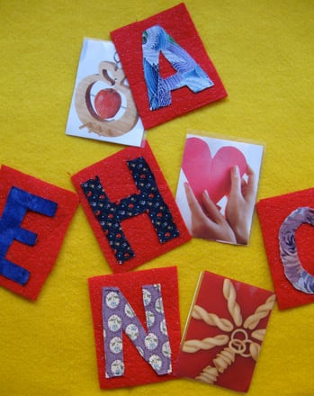Preschool Reading & Writing Activities: Felt Alphabet Letters