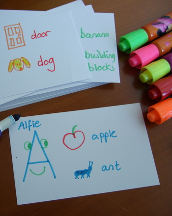 Preschool Reading & Writing Activities: Make Alphabet Monster Cards