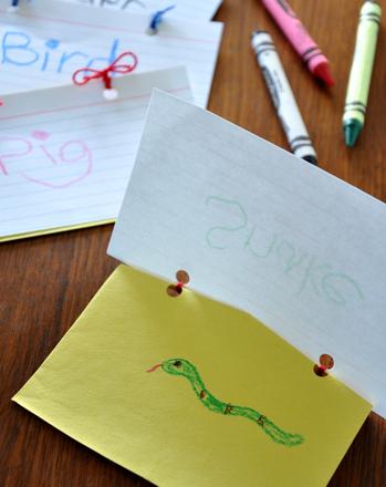 Preschool Reading & Writing Activities: Make Peek-a-Boo Books