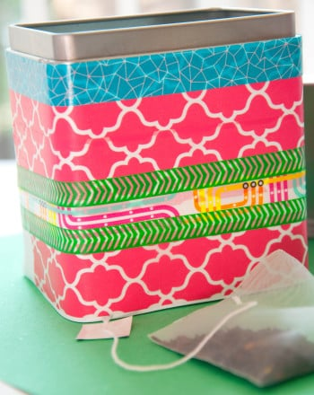 Fourth Grade Holidays & Seasons Activities: Washi Tea Tin
