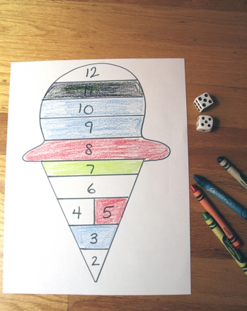 First Grade Math Activities: Play Ice Cream Addition!
