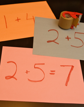 Second Grade Math Activities: Step on It: A Math Game