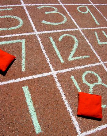 Second Grade Math Activities: Sidewalk Chalk Subtraction