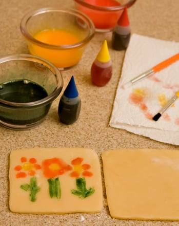 Preschool Recipes Activities: Painted Cookies