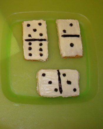 Fifth Grade Recipes Activities: Domino Cookies
