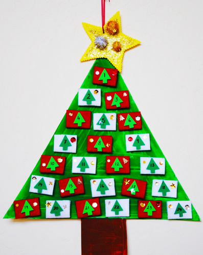 Create An Advent Countdown Christmas Tree