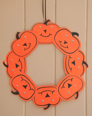 Third Grade Seasons Activities: Pumpkin Wreath