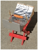 Kids use applied math to build and test a parabolic mirror solar hot dog cooker in this cool engineering science fair project idea for middle school.