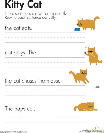 Cat Worksheets | Education.com