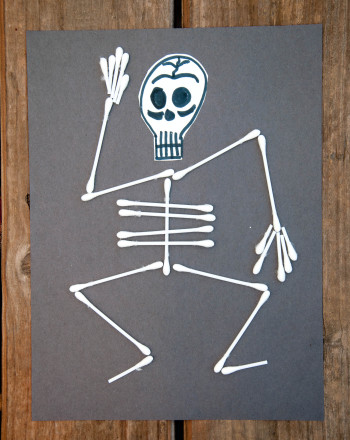 First Grade Math Activities: Halloween Skeleton