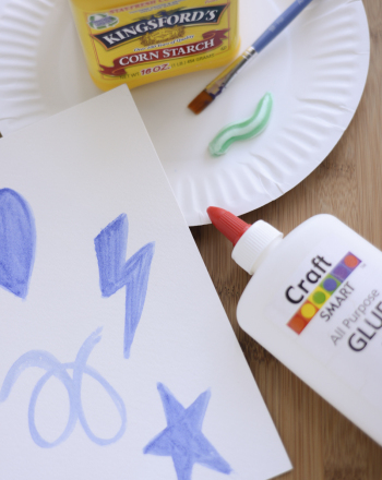 Preschool Arts & crafts Activities: Toothpaste Art