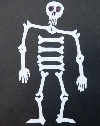 First Grade Holidays Activities: Dancing Skeleton