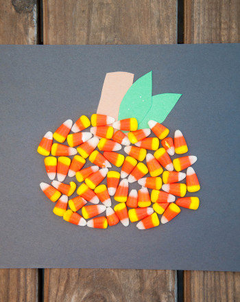 Preschool Math Activities: Candy Corn Pumpkin