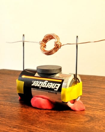 how to make a simple electric motor science project