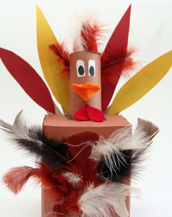 Kindergarten Holidays Activities: Make a Tissue Box Thanksgiving Turkey