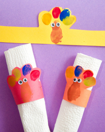 Preschool Holidays & Seasons Activities: Turkey Napkin Rings