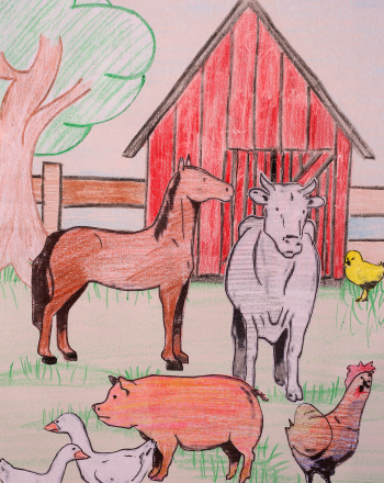 Kindergarten Arts & Crafts Activities: Animals on a Farm: Paper Cut-Outs!
