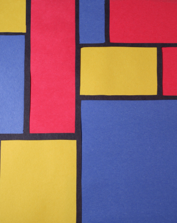 First Grade Arts & Crafts Activities: Make Mondrian Stained Glass Art