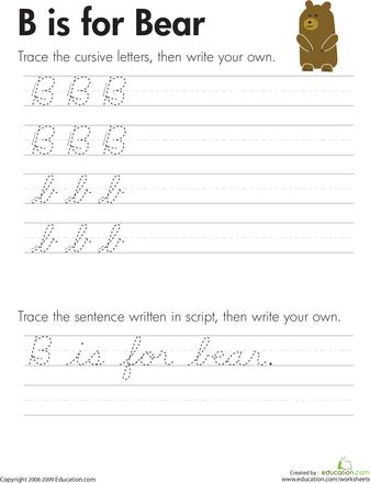 Cursive Letters A-Z | Education.com