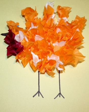 Preschool Arts & crafts Activities: Make a Tissue Paper Turkey