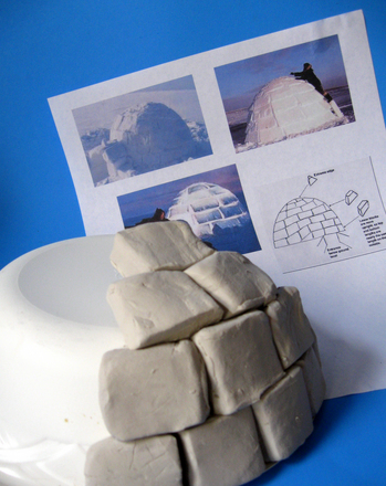 Kindergarten Holidays & Seasons Activities: Practice Counting with an Igloo Sculpture