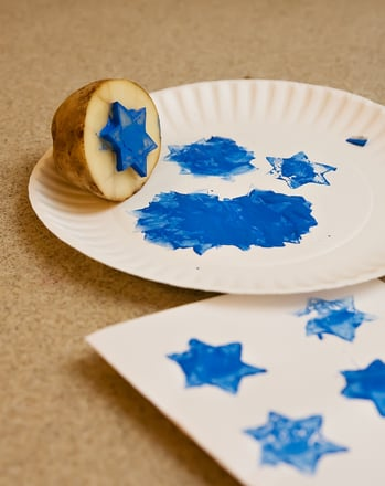 Second Grade Holidays Activities: Hanukkah Stamps