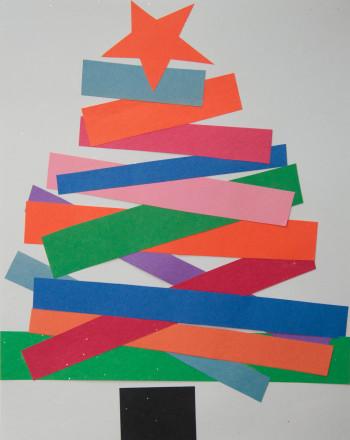 Second Grade Arts & crafts Activities: Rainbow Christmas Tree