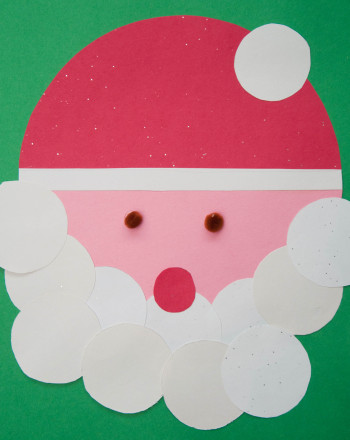 First Grade Math Activities: Santa Face