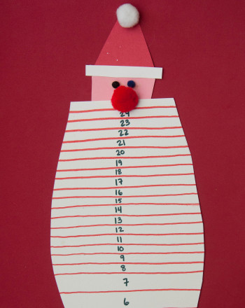 Preschool Reading & Writing Activities: Santa Beard