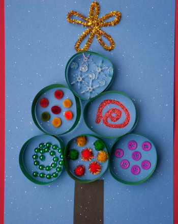 Kindergarten Holidays Activities: Tree Texture