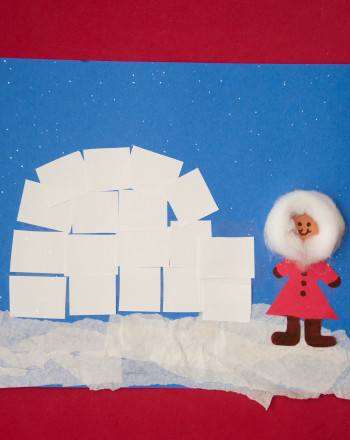 First Grade Holidays & Seasons Activities: Igloo Picture