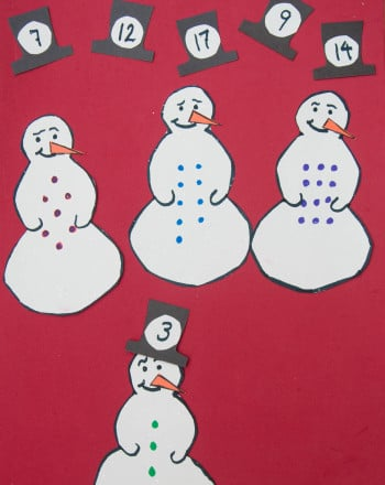 Kindergarten Math Activities: The Snowmen