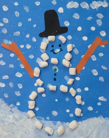 Kindergarten Holidays & Seasons Activities: Happy Snowman