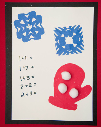 First Grade Math Activities: Snowball Fight