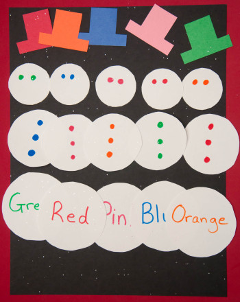 Kindergarten Seasons Activities: Winter Colors