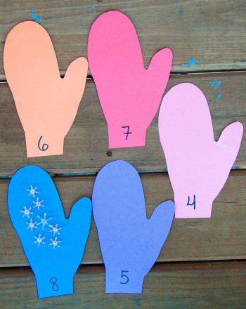 Kindergarten Offline games Activities: Winter Gloves