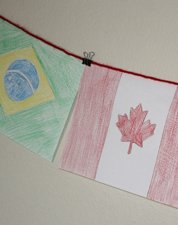 Second Grade Arts & crafts Activities: Flags of the World Banner
