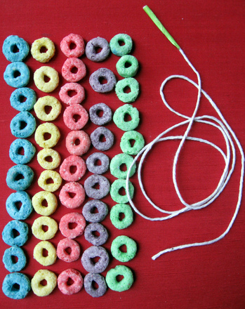 First Grade Math Activities: Get Loopy! Make a 100th Day Necklace