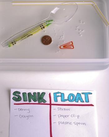 Kindergarten Science Activities: Sink or Float: A Science Experiment
