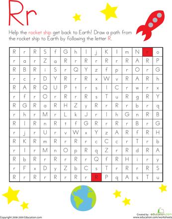 Find The Path Worksheets For Kindergarten