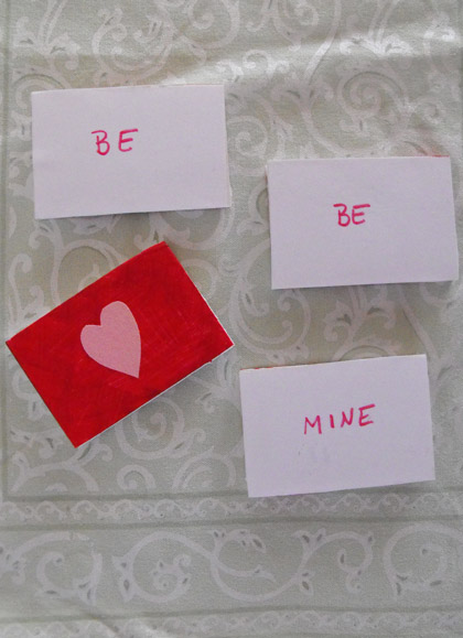 First Grade Reading & Writing Activities: Valentine's Word Game
