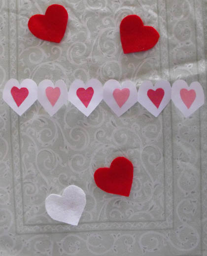 First Grade Math Activities: Heart Paper Chain